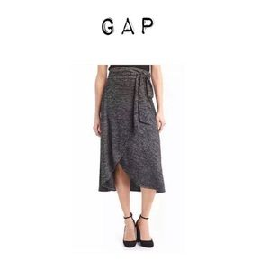 Gap Softspun Knit Wrap Midi skirt